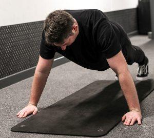 Richard Kelly doing pushups